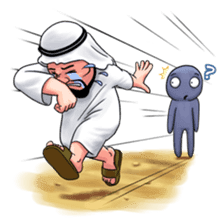 Handsome Uncle from Middle East sticker #10978235