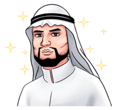 Handsome Uncle from Middle East sticker #10978236