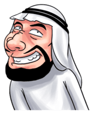 Handsome Uncle from Middle East sticker #10978239