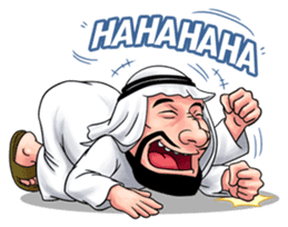 Handsome Uncle from Middle East sticker #10978240