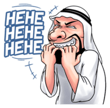 Handsome Uncle from Middle East sticker #10978241
