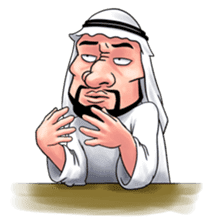Handsome Uncle from Middle East sticker #10978244