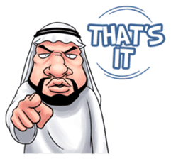 Handsome Uncle from Middle East sticker #10978246