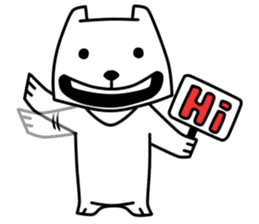 White Bear: Very Cute and Adorable sticker #10987664