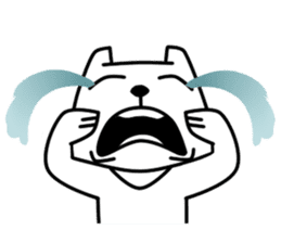 White Bear: Very Cute and Adorable sticker #10987669