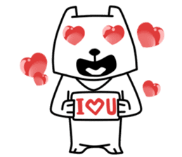 White Bear: Very Cute and Adorable sticker #10987678