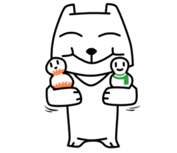 White Bear: Very Cute and Adorable sticker #10987712