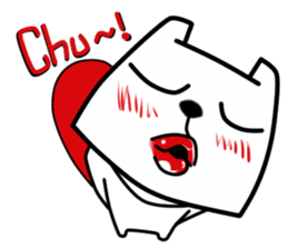 White Bear: Very Cute and Adorable sticker #10987724