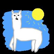 สติ๊กเกอร์ไลน์ Fortune Telling Alpaca