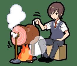Food porn boy sticker #10991879