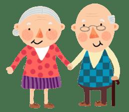 Forever Jo-Jo:A Very Cute Elderly couple sticker #10996584