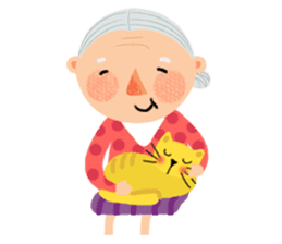 Forever Jo-Jo:A Very Cute Elderly couple sticker #10996585