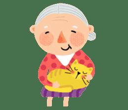 Forever Jo-Jo:A Very Cute Elderly couple sticker #10996585