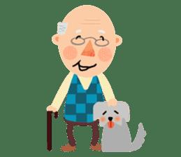 Forever Jo-Jo:A Very Cute Elderly couple sticker #10996586