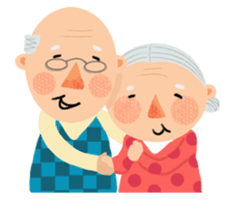 Forever Jo-Jo:A Very Cute Elderly couple sticker #10996587