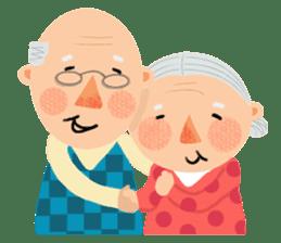 Forever Jo-Jo:A Very Cute Elderly couple sticker #10996587