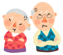 Forever Jo-Jo:A Very Cute Elderly couple sticker #10996589