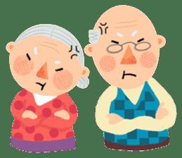 Forever Jo-Jo:A Very Cute Elderly couple sticker #10996589
