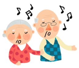 Forever Jo-Jo:A Very Cute Elderly couple sticker #10996592