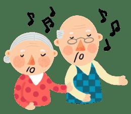 Forever Jo-Jo:A Very Cute Elderly couple sticker #10996592