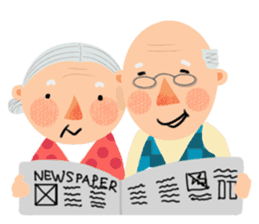 Forever Jo-Jo:A Very Cute Elderly couple sticker #10996593