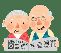 Forever Jo-Jo:A Very Cute Elderly couple sticker #10996593