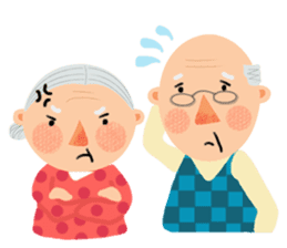 Forever Jo-Jo:A Very Cute Elderly couple sticker #10996594
