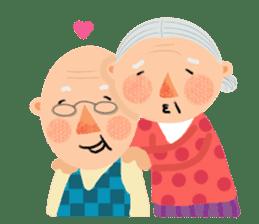 Forever Jo-Jo:A Very Cute Elderly couple sticker #10996595