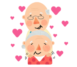 Forever Jo-Jo:A Very Cute Elderly couple sticker #10996596