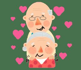 Forever Jo-Jo:A Very Cute Elderly couple sticker #10996596