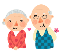 Forever Jo-Jo:A Very Cute Elderly couple sticker #10996597