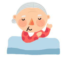 Forever Jo-Jo:A Very Cute Elderly couple sticker #10996598