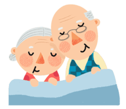 Forever Jo-Jo:A Very Cute Elderly couple sticker #10996600