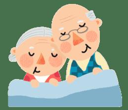 Forever Jo-Jo:A Very Cute Elderly couple sticker #10996600