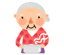 Forever Jo-Jo:A Very Cute Elderly couple sticker #10996601