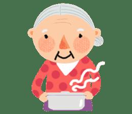 Forever Jo-Jo:A Very Cute Elderly couple sticker #10996601