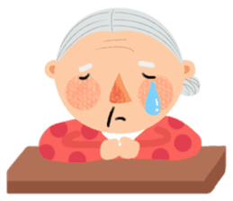 Forever Jo-Jo:A Very Cute Elderly couple sticker #10996603