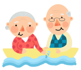 Forever Jo-Jo:A Very Cute Elderly couple sticker #10996604