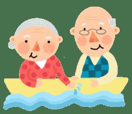 Forever Jo-Jo:A Very Cute Elderly couple sticker #10996604