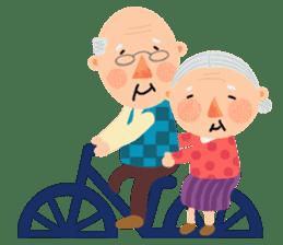 Forever Jo-Jo:A Very Cute Elderly couple sticker #10996606