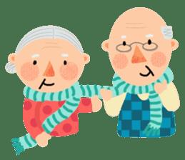 Forever Jo-Jo:A Very Cute Elderly couple sticker #10996608