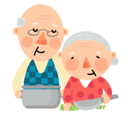 Forever Jo-Jo:A Very Cute Elderly couple sticker #10996611