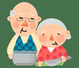Forever Jo-Jo:A Very Cute Elderly couple sticker #10996611
