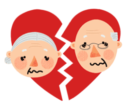 Forever Jo-Jo:A Very Cute Elderly couple sticker #10996618