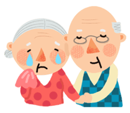 Forever Jo-Jo:A Very Cute Elderly couple sticker #10996619