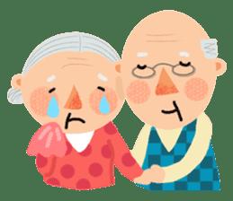Forever Jo-Jo:A Very Cute Elderly couple sticker #10996619