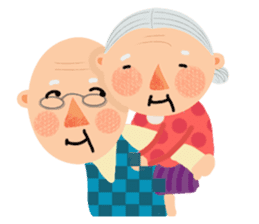 Forever Jo-Jo:A Very Cute Elderly couple sticker #10996621