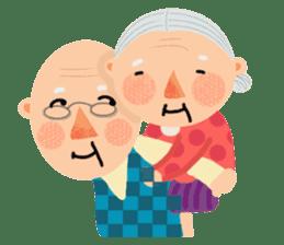 Forever Jo-Jo:A Very Cute Elderly couple sticker #10996621