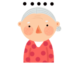 Forever Jo-Jo:A Very Cute Elderly couple sticker #10996623