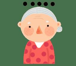 Forever Jo-Jo:A Very Cute Elderly couple sticker #10996623